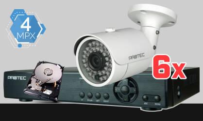 Zestaw do monitoringu Full HD, 2x kamera ESBR-2404, rejestrator cyfrowy 4-kanałowy ES-XVR7904, dysk 500GB, akcesoria